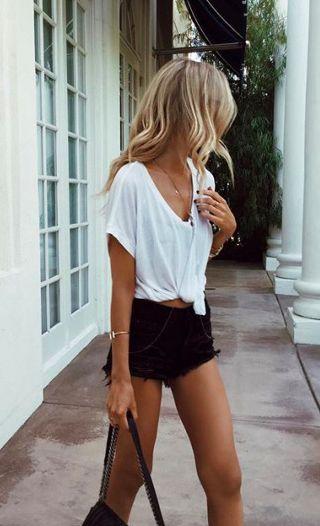 T-shirt loose blanc