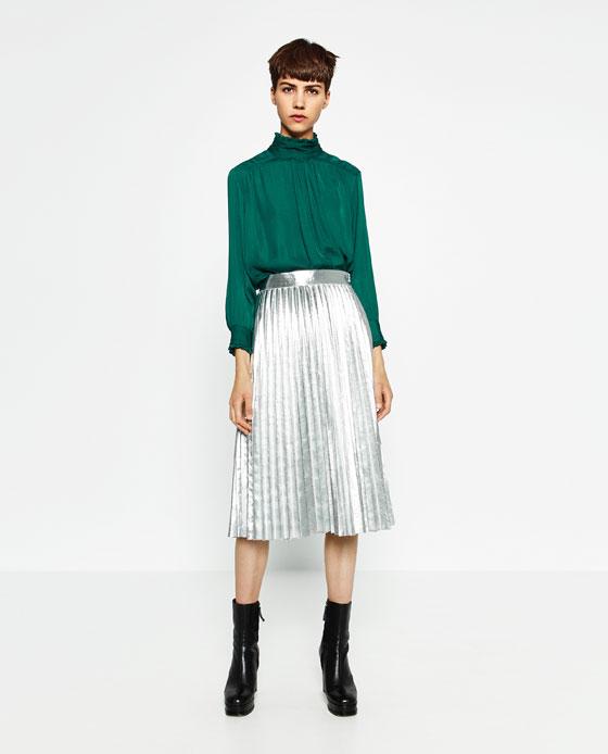 Jupe midi plissée, s'habiller avec style , blog mode