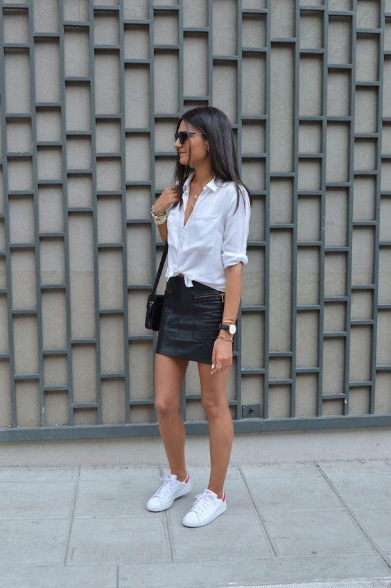 mini-jupe cuir