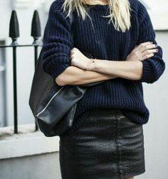mini-jupe cuir noire