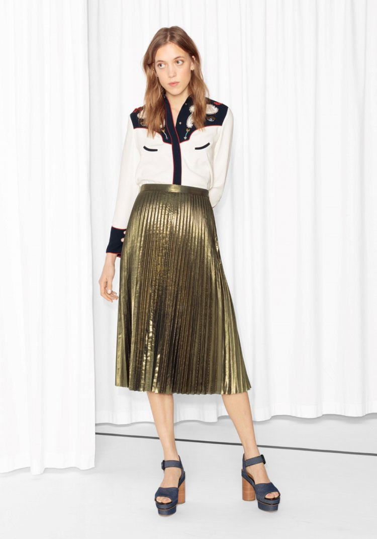 Jupe midi plissée, blog mode femme 40 ans
