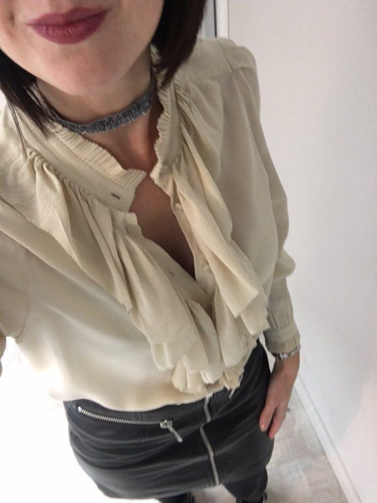 tenue fêtes chemise soie