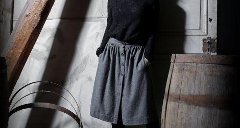 jupe midi en laine, blog de mode
