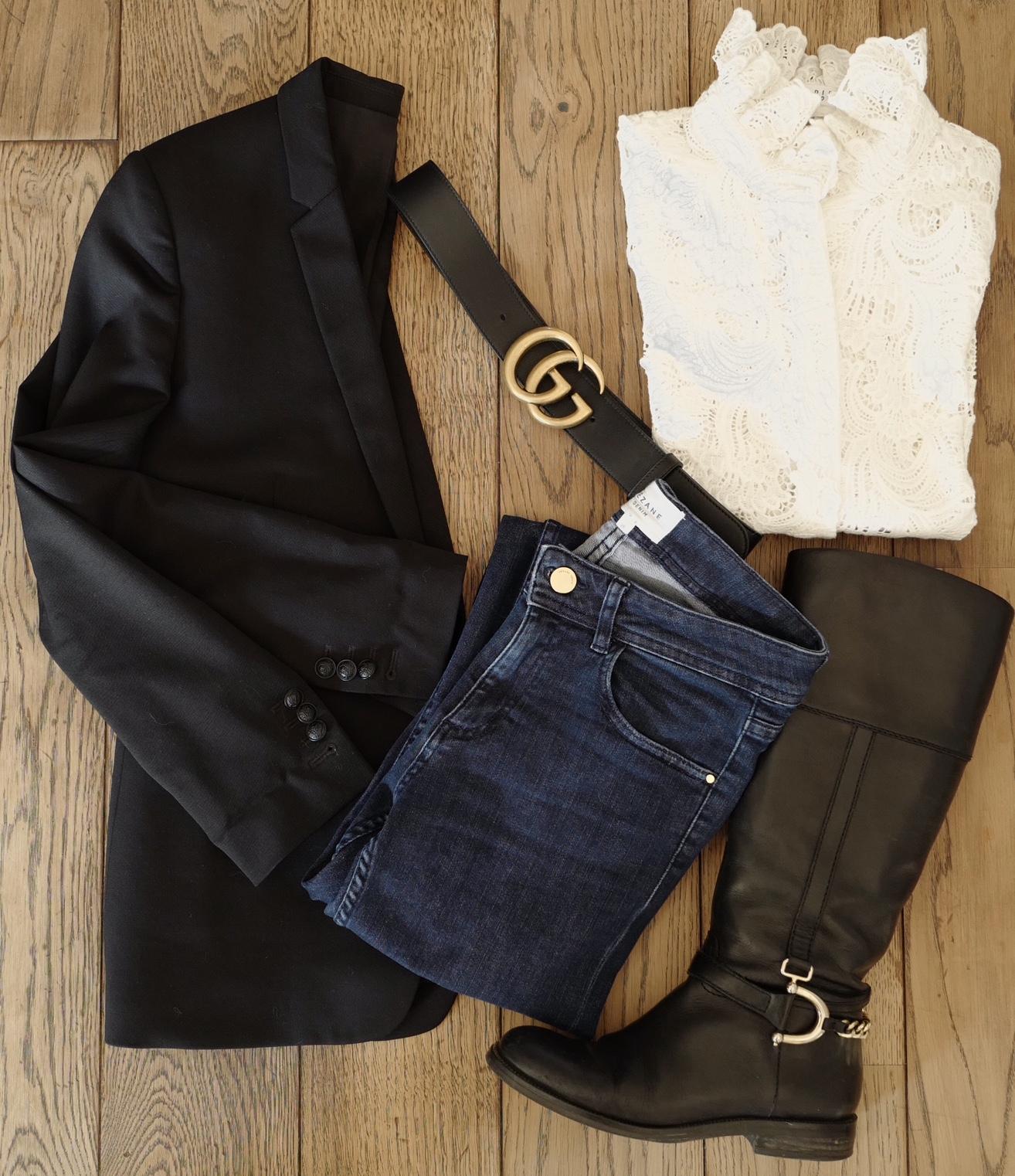 tenue chic en jean